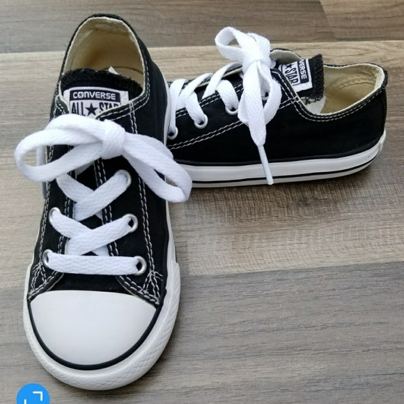 d619a5fdd4c558 Converse Other - CONVERSE All-Star Black Low Top Toddlers Sz 9